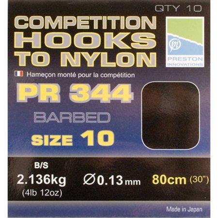 Preston Innovations Competition 344 Hooks To Nylon