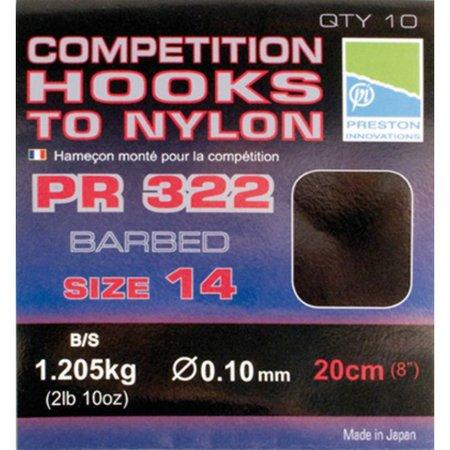 Preston Innovations Competition 322 Hooks To Nylon