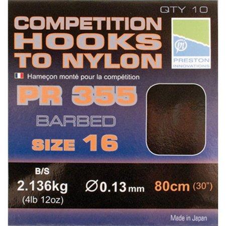 Preston Innovations Competition 355 Hooks To Nylon