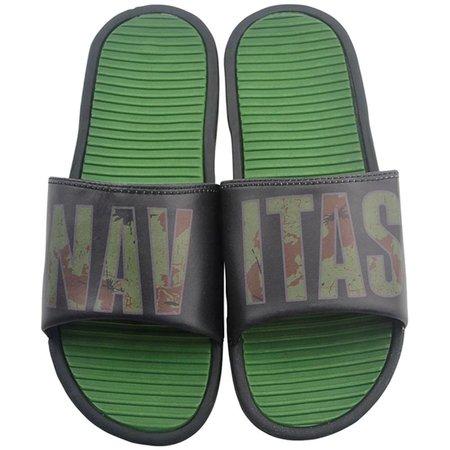Navitas Black / Camo Sliders Size 8