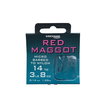 Drennan Red Maggot Hooks To Nylon