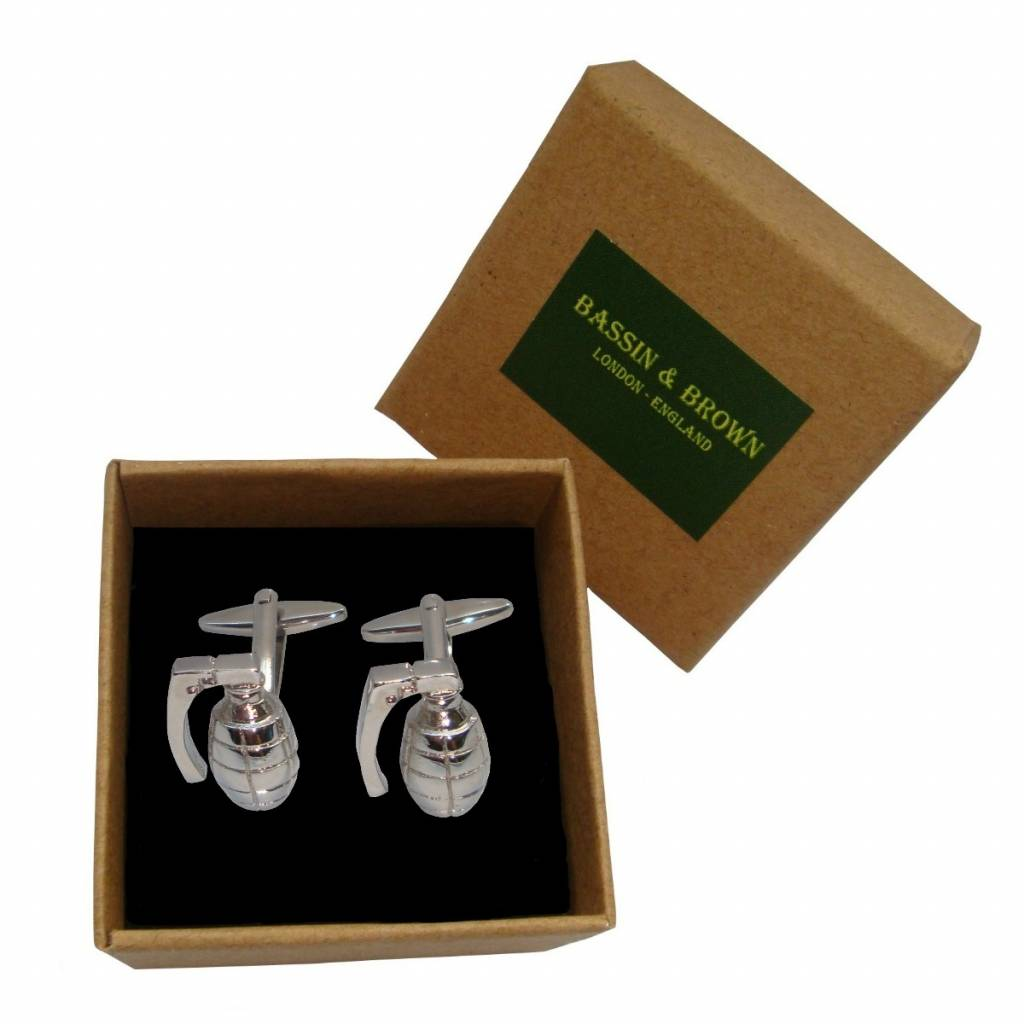 Bassin & Brown Grenade Cufflinks