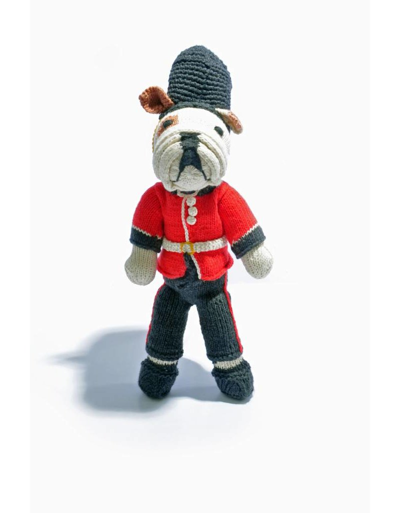 Hand Knitted Bulldog Soft Toy