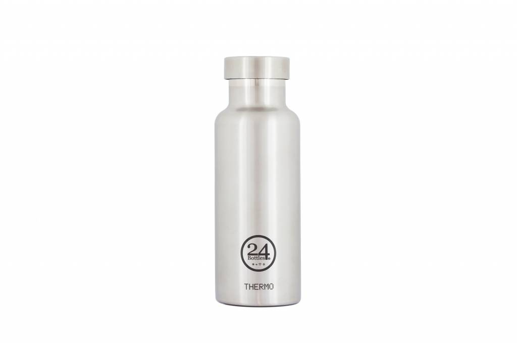 500ml Insulated Bottle with Steel Finish