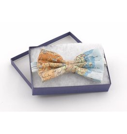 Home Front Vintage Silk Map Bow Tie