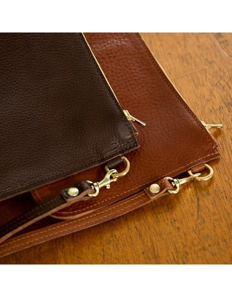 Home Front Vintage Limited Edition Frankie Dark Brown Leather Clutch