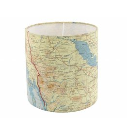 Home Front Vintage Silk Map Lampshade