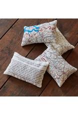 Home Front Vintage Escape and Evade Silk Map Lavender Bag