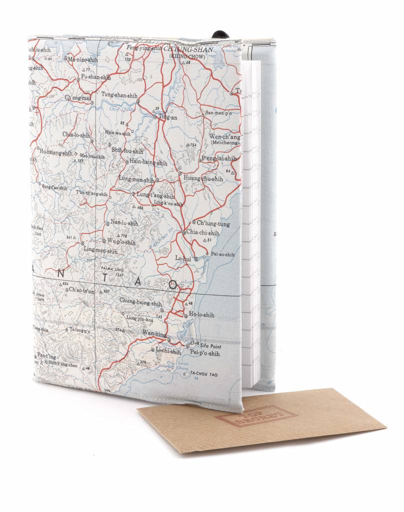 Home Front Vintage Escape and Evade Silk Map Lined Notebook