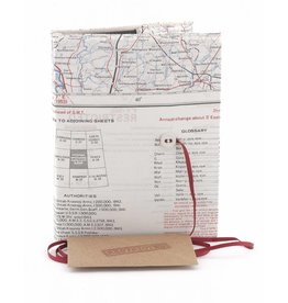 Home Front Vintage Silk Map Plain Notebook