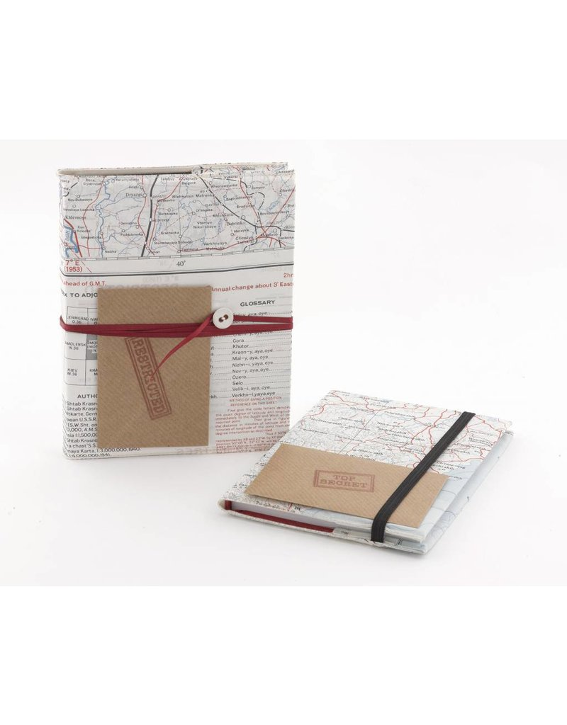 Home Front Vintage Escape and Evade Silk Map Plain Notebook