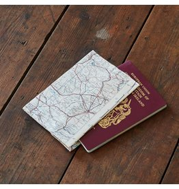 Home Front Vintage Silk Map Passport Cover