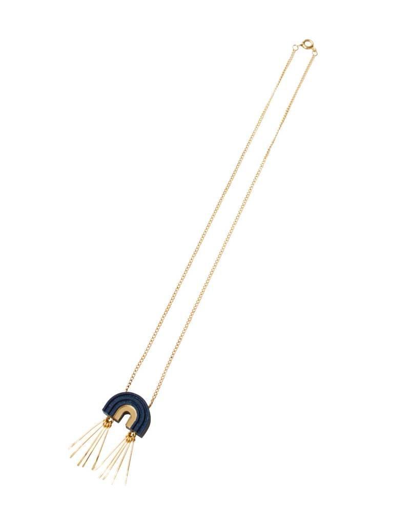 Wolf & Moon Mini Tassel Arch Necklace