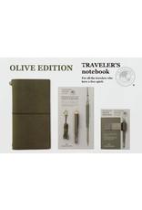 Midori Brass Pen Olive Edition
