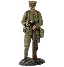 British Infantry with German Helmet