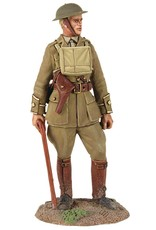 W Britain: British Infantry Officer Standing with Walking Stick