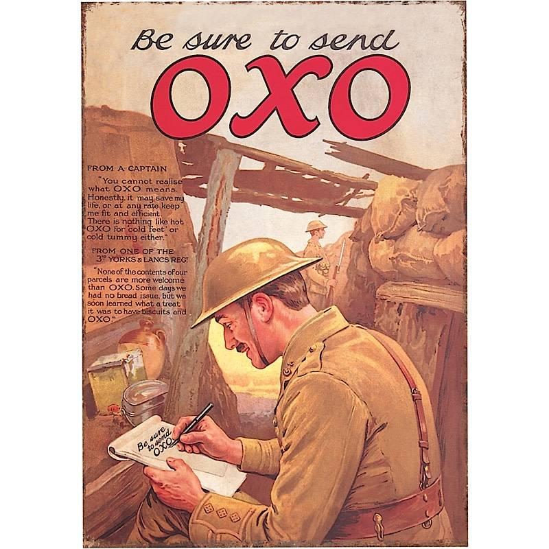 Oxo Large Tin Sign