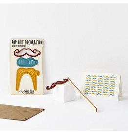 Pop Out Moustache Card