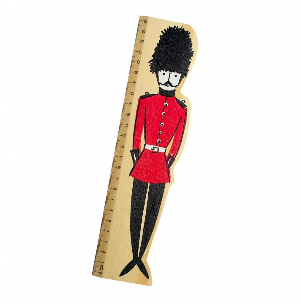 Alice Tait Wooden London Soldier Ruler