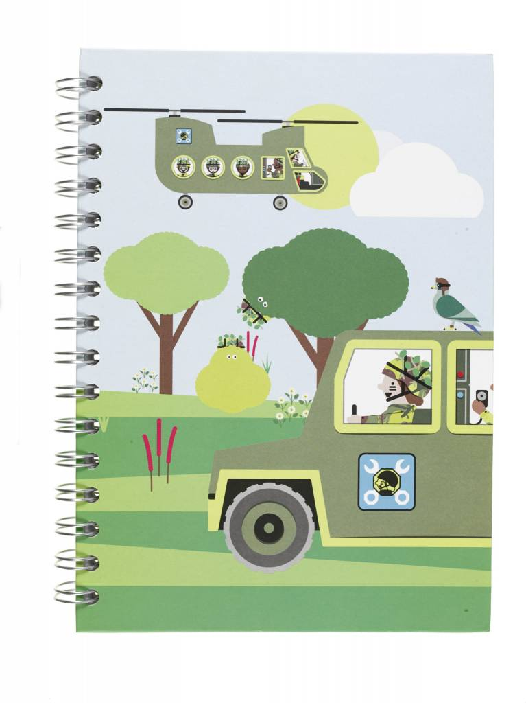 National Army Museum 'Play Base' Hardback Notebook