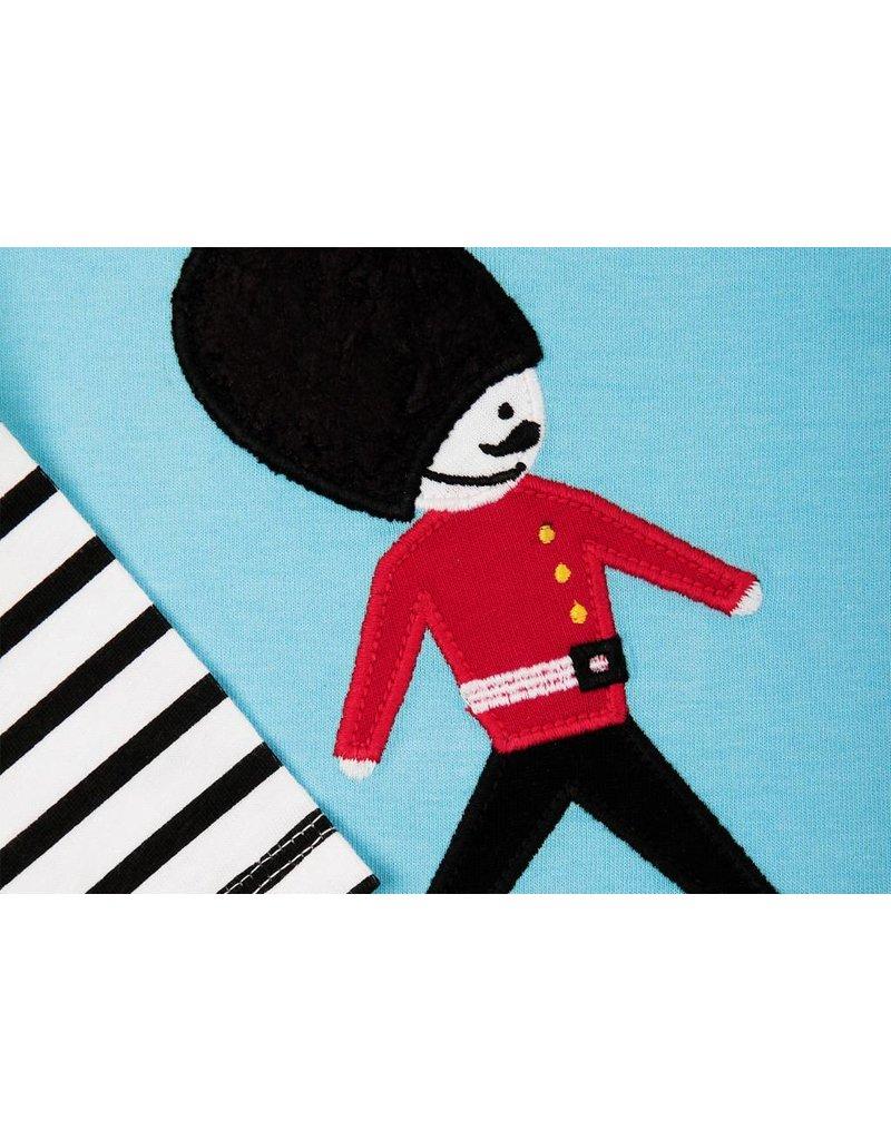 Bert & Freddy Soldier Long Sleeve Blue Top