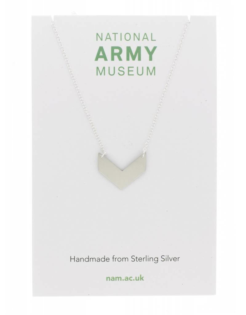 Just Trade Single Chevron Necklace Sterling Silver