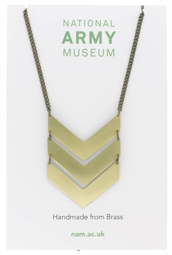 Just Trade Triple Chevron Necklace Brass