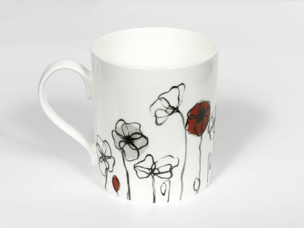 Field Poppy Bone China Mug