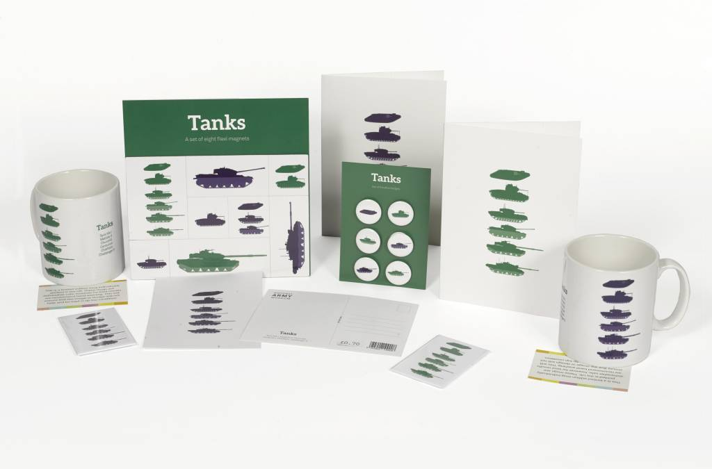 Stacked Tank Greetings Card