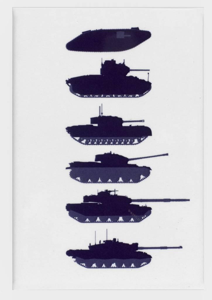 Stacked Tanks Magnet