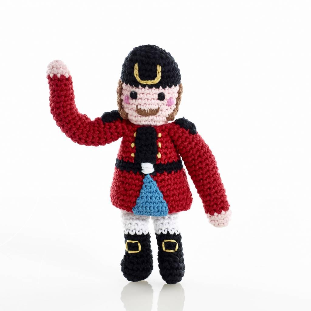 Nutcracker Crochet Baby Rattle