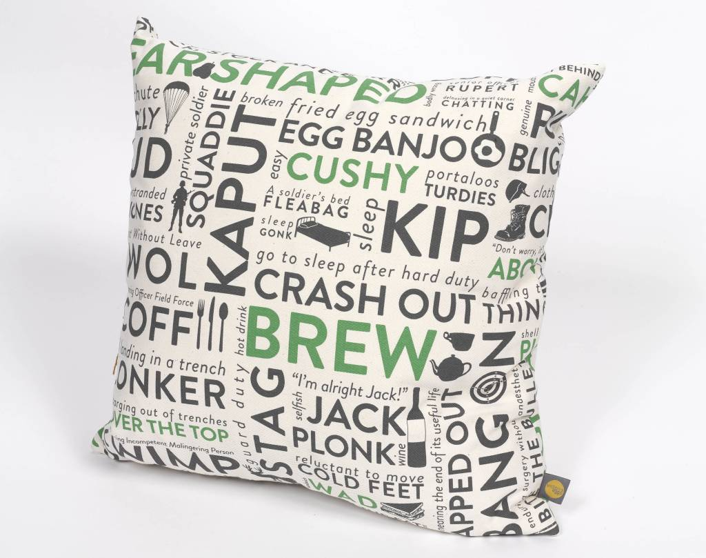 Victoria Eggs Army Slang  Cushion Green