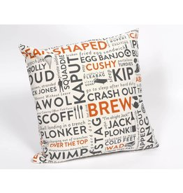 Victoria Eggs Army Slang Cushion  Orange
