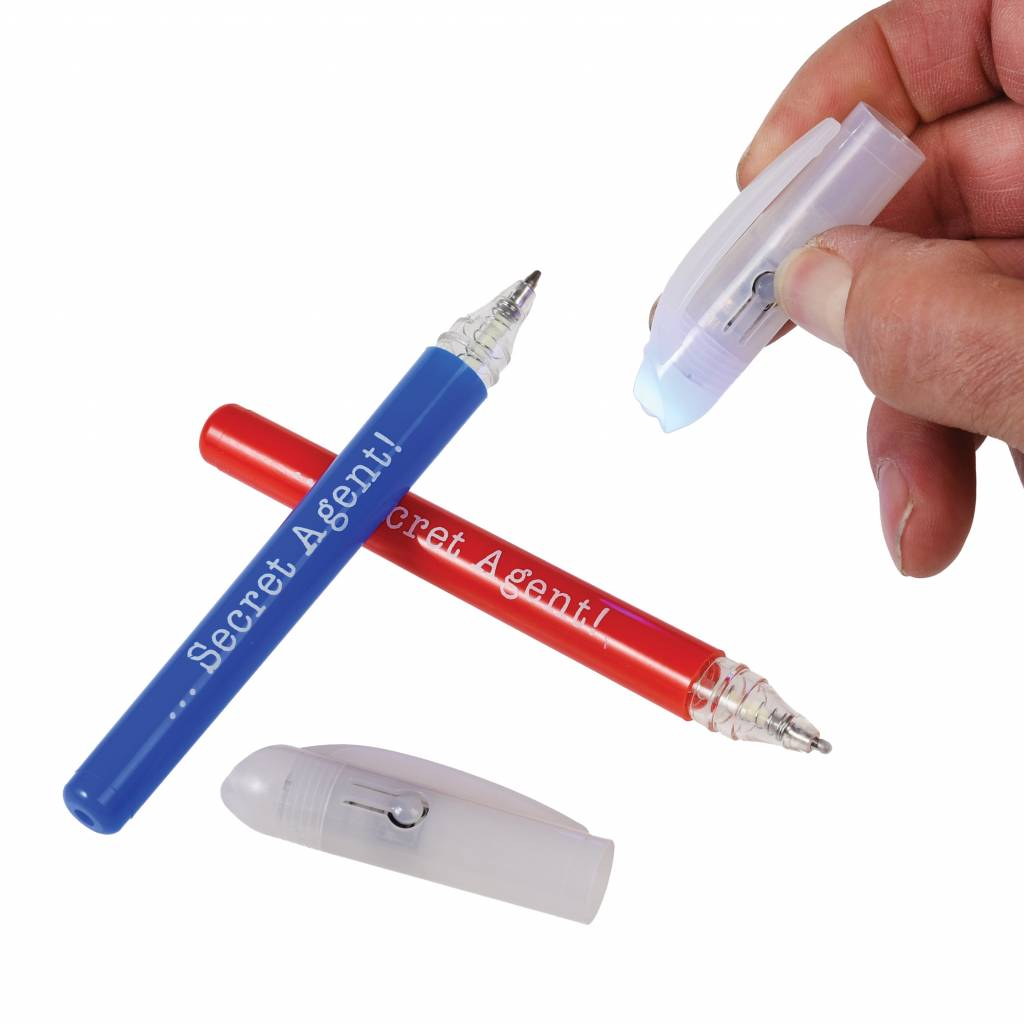 Two Spy Pens with UV Lights