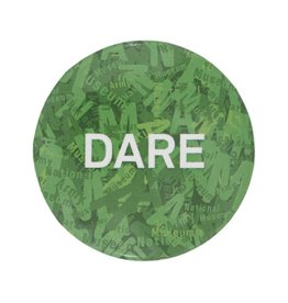 Button Badge Green Dare