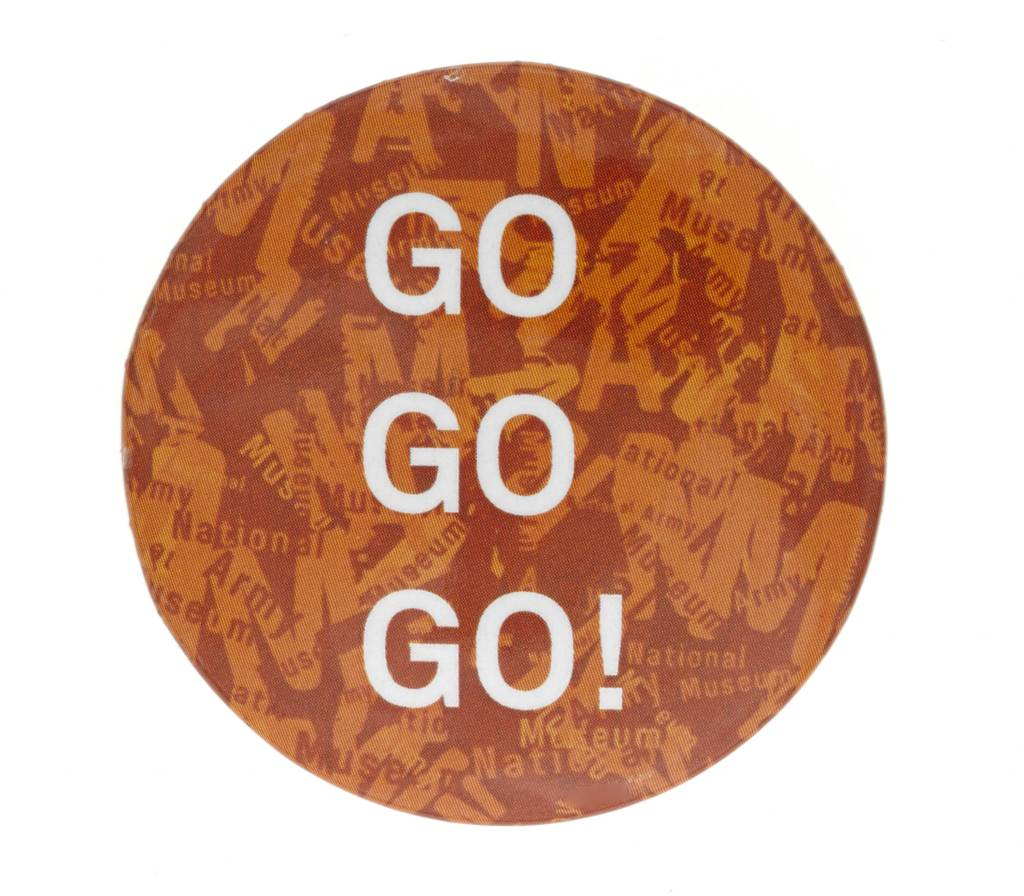 Special Forces Button Badge Orange Go Go Go