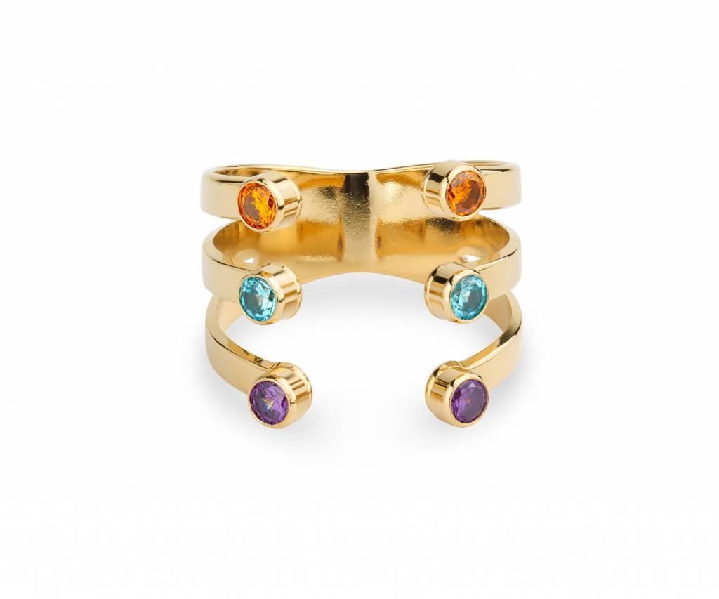 MYA BAY Triple griffes - pierres couleurs
