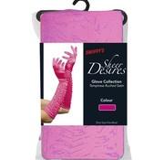 Fever Lange glanzende handschoenen - Roze