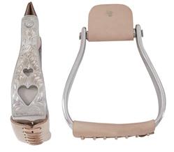 American Heritage Equine Aluminium-Steigbügel mit Herzen