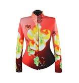 Lisa Nelle Red Ombre Flower Showshirt Größe M