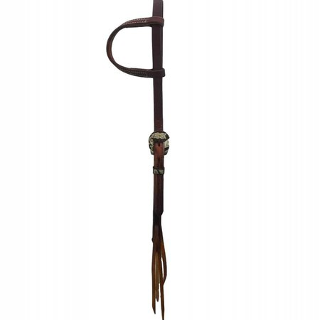 Cowperson Tack Hoofdstel one ear  with brown flower buckle