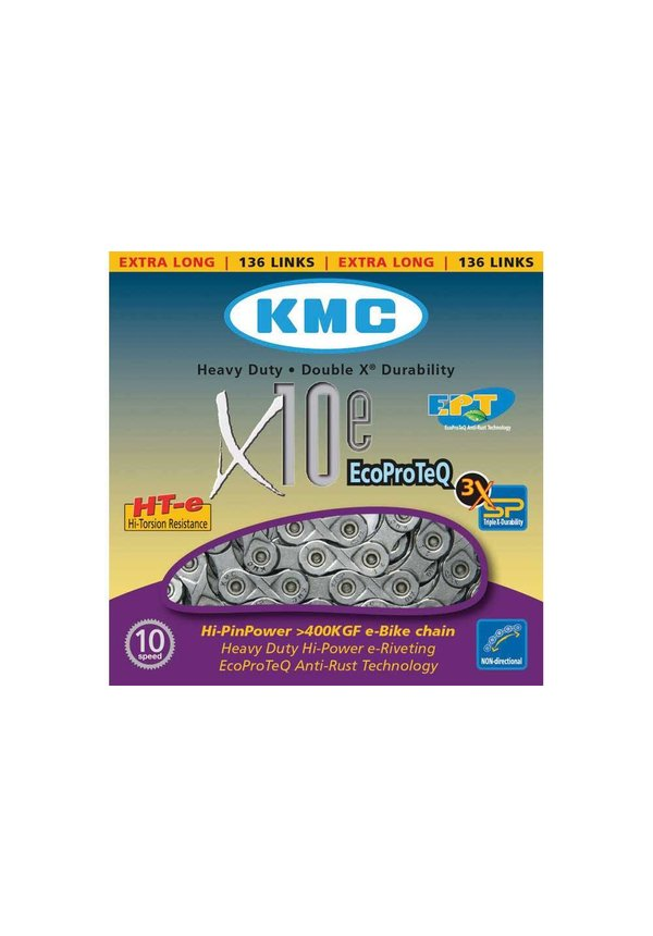 KMC E-BIKE SERIES X10 EPT CHAIN 136 LINKS