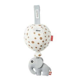hoorens Musical ballon, gold dots