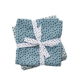 hoorens Swaddle, 2-pack, Happy dots, blue