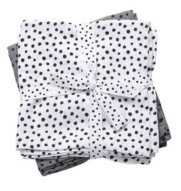 hoorens Burp cloth, 2-pack, Happy dots, grey (min. 6)