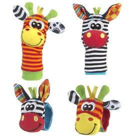 Playgro Playgro Rattling and Teething Jungle Wrist Rattle and Foot Finder