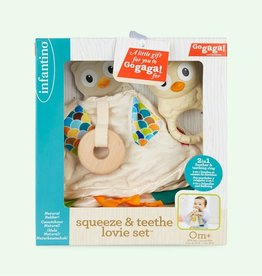 Infantino Infantino Squeeze & Teethe Lovie Set