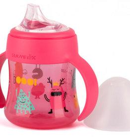 Suavinex SX - FEEDING - Booo - Flesje 150ml met handgrepen - Roze