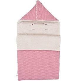 koeka Voetenzak Maxi-Cosi Waffle/teddy Oslo blush pink/pebble