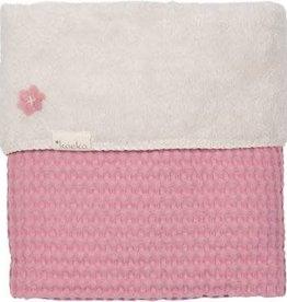 koeka Deken 100x150cm Waffle/teddy Osio Blush pink/pebble